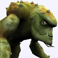fantasy troll 3d model