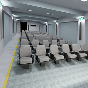 conference room hall 3d model
