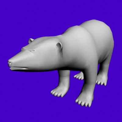 3ds max polar bear