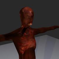 burnt zombie 3d model