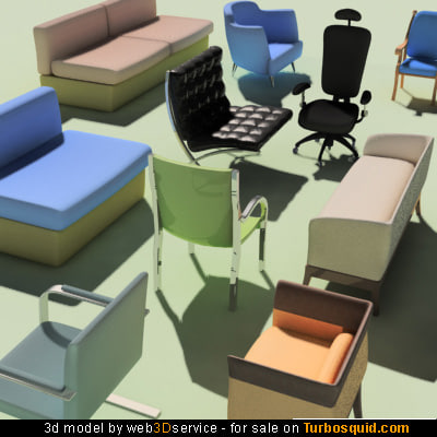 3d seat chairs