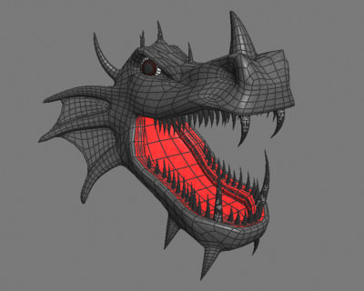 3dsmax dragon head