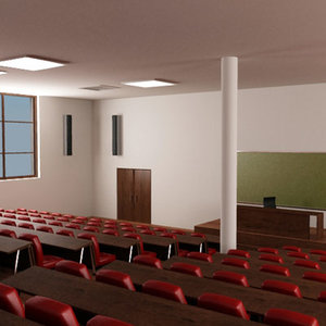 shool assembly hall 3d max