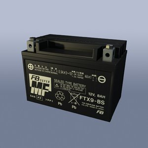 free motorcycle battery 3d model