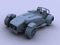 3d caterham r300 super seven model