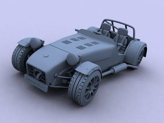 3d caterham r300 super seven model