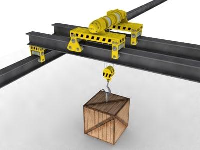 industrial bridge crane 3d model
