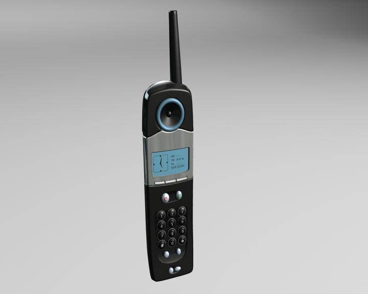 3d model of cordless phone
