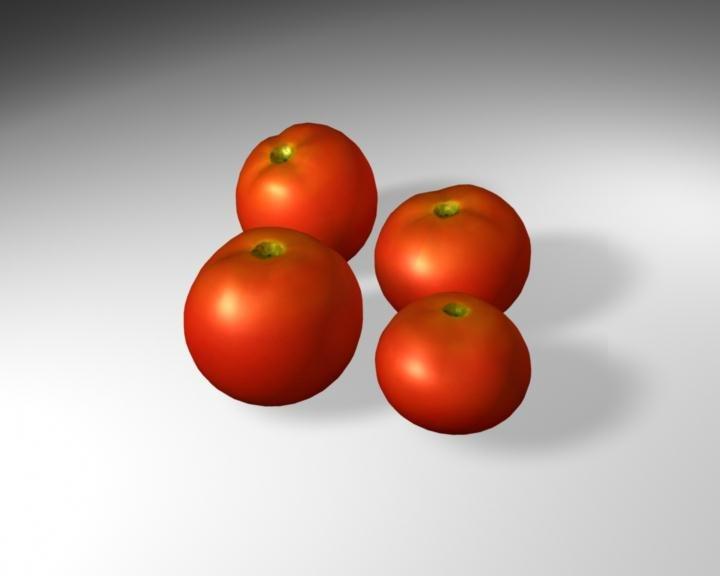 3d model tomatoes