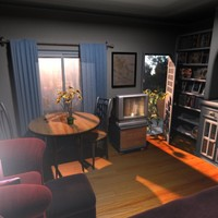 3d interior room project model