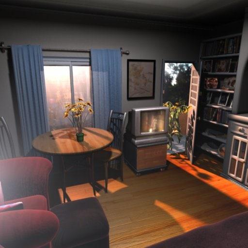3d interior room project model