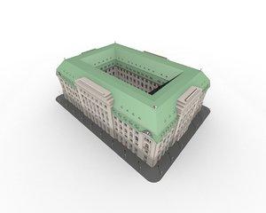 office building - 3d model