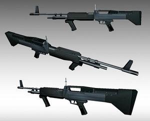 3d m60e4 machine gun model