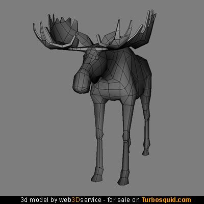 moose real time 3d model