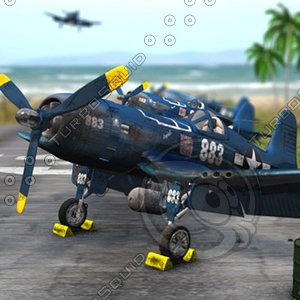 3d corsair f4u-5n model