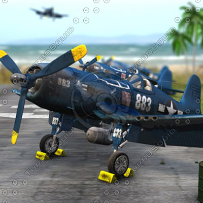 3d corsair f4u-5n model