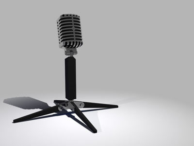vintage microphone 3d model