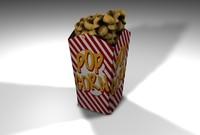 3ds max pop corn popcorn