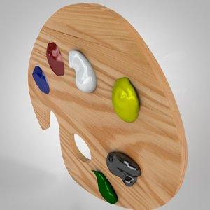 paint pallete 3d model