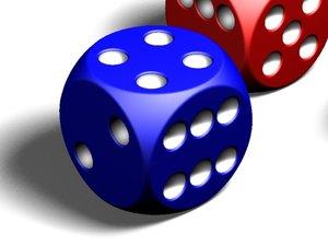 maya high-quality dice