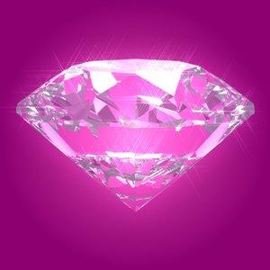 brilliant cut diamond refraction 3d model