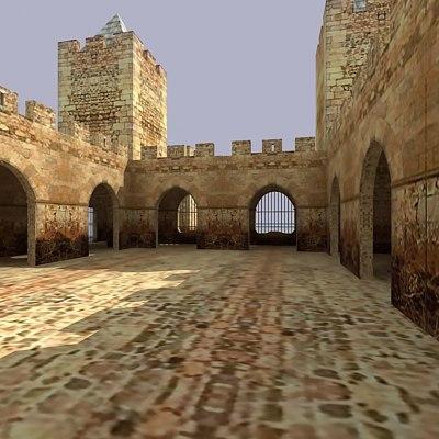maya castle building medieval