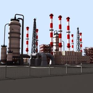 industrial plant 3d model