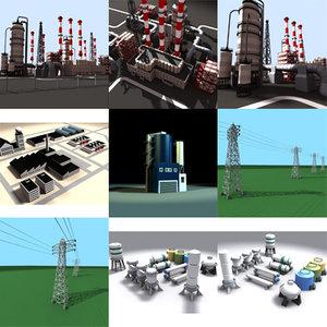 industrial chimneys 3d max
