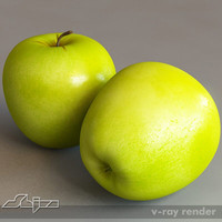 apple v-ray 3d model