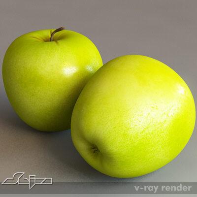 apple v-ray 3d model