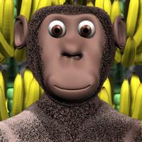 maya rigged monkey
