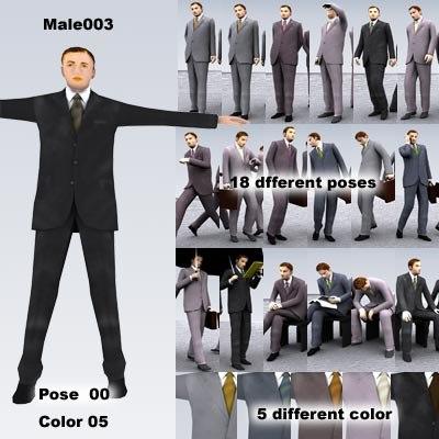 3d male man people model
