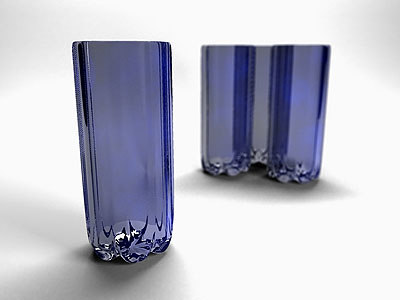 deep blue drinking glass 3d max
