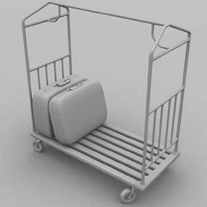 valet cart 3d model