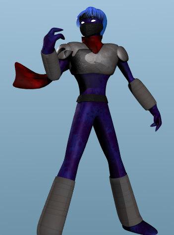 posable vampire ninja 3d model