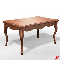 3d model table old fashioned
