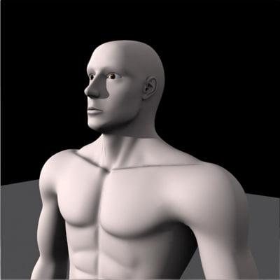 human body 3d max