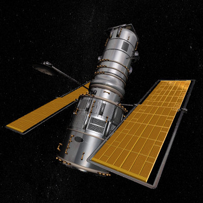 3d model of realistic hubble telescope
