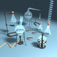 laboratory equipment 3d max