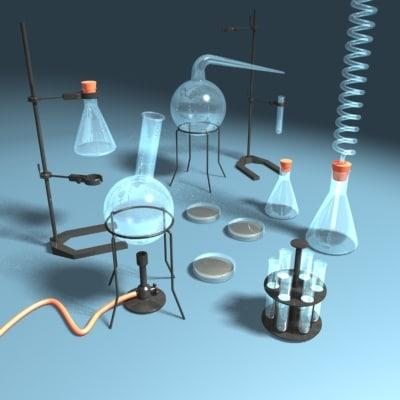 laboratory equipment 3d max