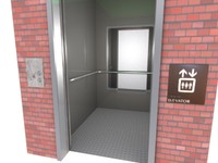 lift disabled door 3d model