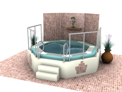 spa jaccuzi 3d model