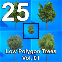 25-Low-Polygon-Trees-Vol01
