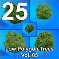 25-Low-Polygon-Trees-Vol05