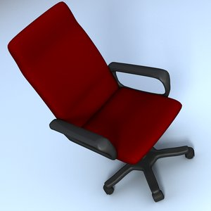 3d model of computer chair