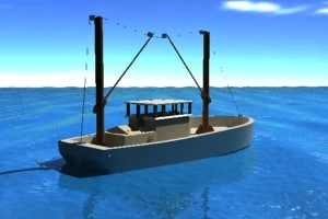 3d model ship fishing