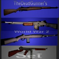 3d ww2 weapons guns