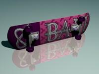 3ds max skateboard board skate