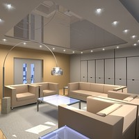 lounge lighting 3d model