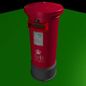 3d pillar post box model